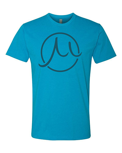 Circle logo turquoise tee small