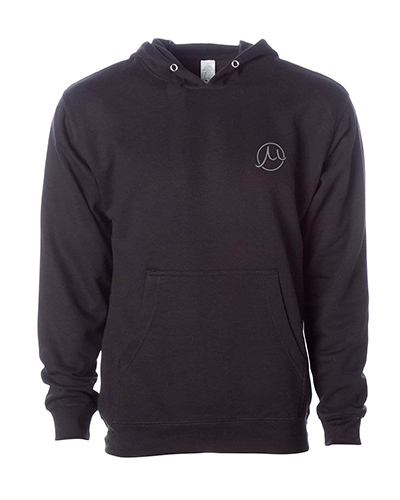 Circle Mu  Badge Hoodie Black