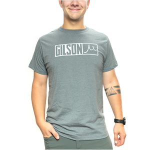 Gilson bar logo gray tee fit front small