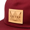 Gilson patch hat pale maroon detail thumb