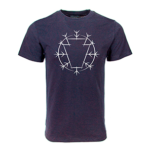 Keystone circle navy tee small