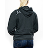 Life is better carbon hoodie fit back thumb