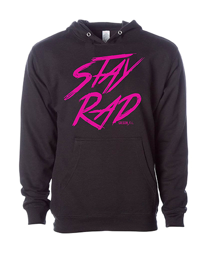Stay rad hoodie black small