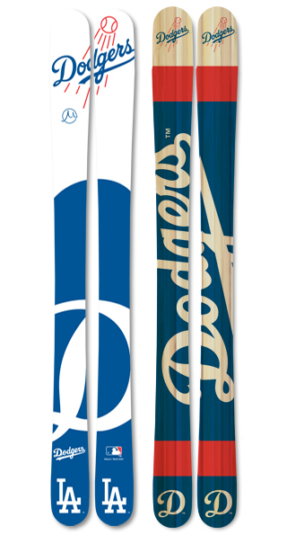 Mlb los angeles dodgers skis small