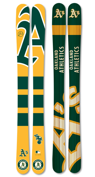Mlb oakland athletics skis small