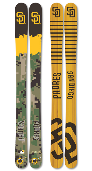 Mlb san diego padres skis small