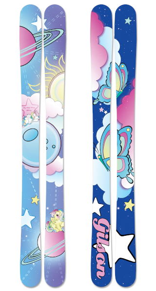 My little pony space pony skis small