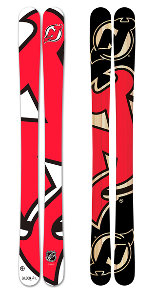 Nhl new jersey devils skis small
