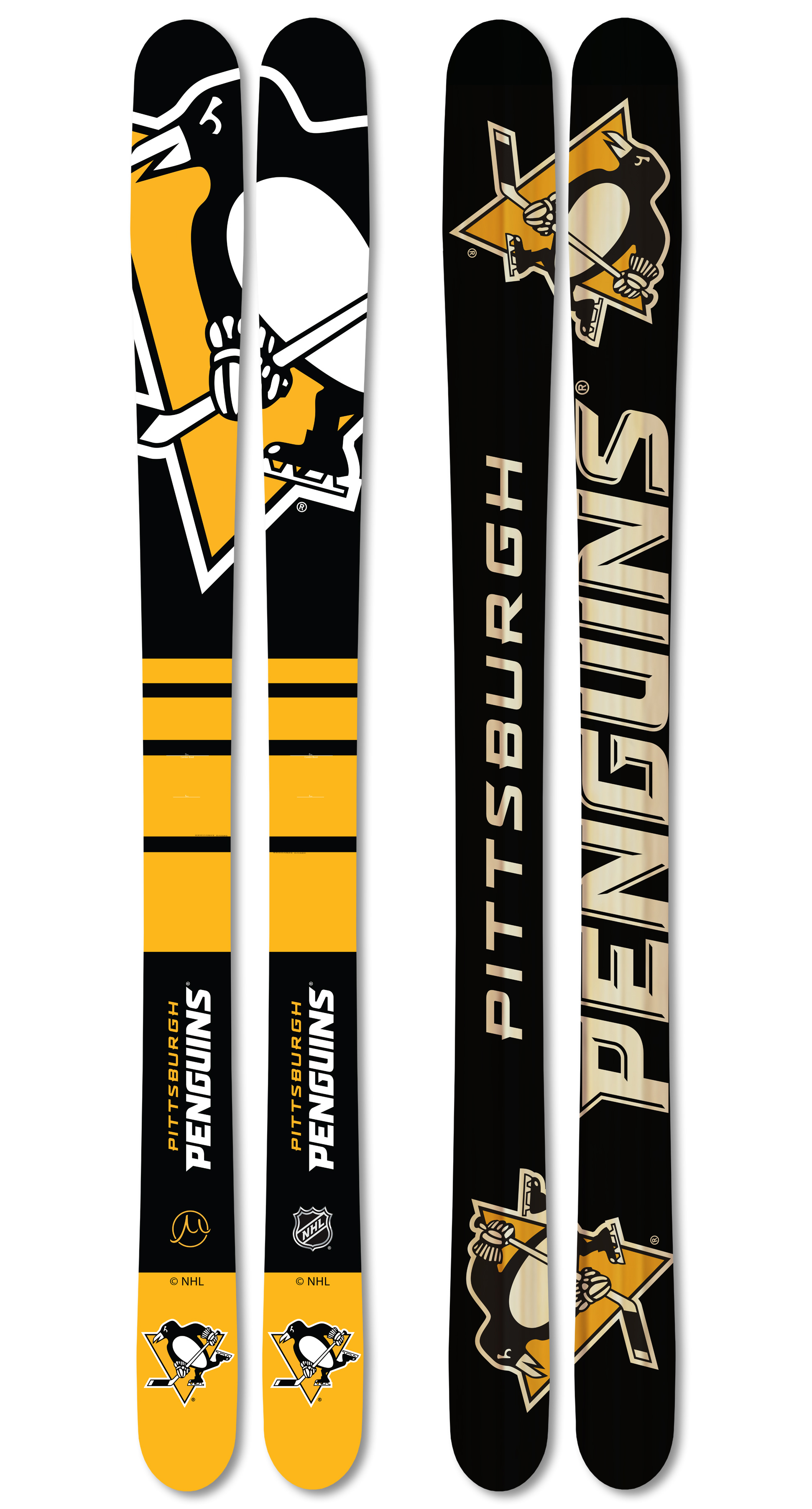Nhl pittsburgh penguins youth skis large